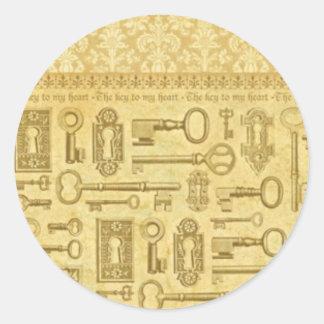 key-stck round sticker