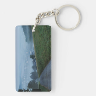 Key supporter autumn mornings in the winner Double-Sided rectangular acrylic key ring