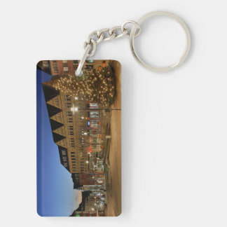 Key supporter city victories market place Double-Sided rectangular acrylic key ring