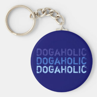 Key supporter DOGaHOLIC blue Key Ring