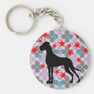 Key supporter Dogge Basic Round Button Key Ring