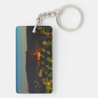 Key supporter Freudenberg old part of town Double-Sided Rectangular Acrylic Key Ring