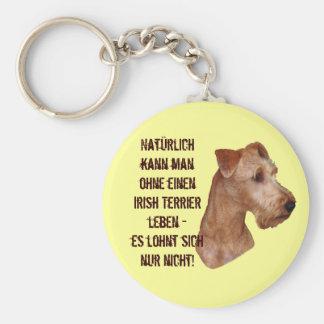 "Key supporter ""Irish Terrier "" Basic Round Button Key Ring"