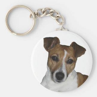 Key supporter Jack Russell Terrier Basic Round Button Key Ring