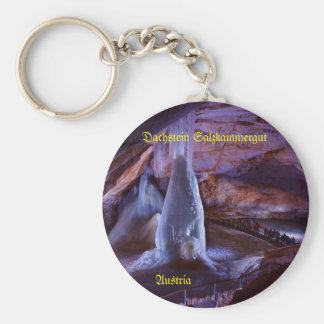 Key supporter, roof stone, ice cave, Austria Key Ring