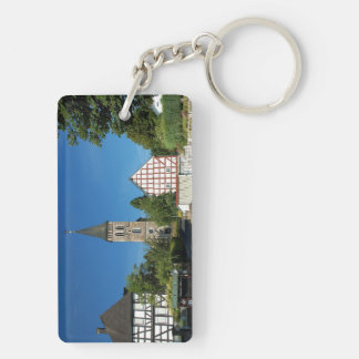 Key supporter Wilnsdorf in the winner country Double-Sided Rectangular Acrylic Key Ring