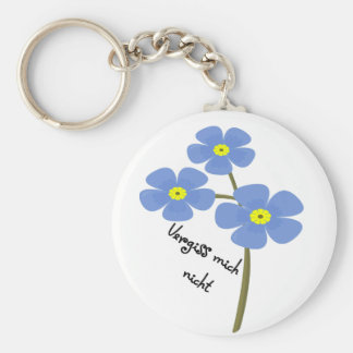Key supporter with motive for flower key ring
