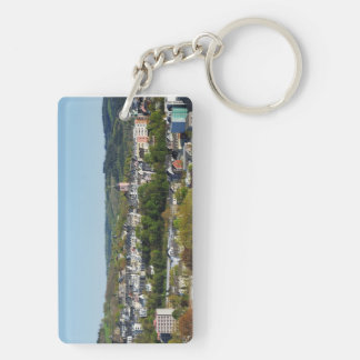 Key supporter with the city opinion of victories Double-Sided rectangular acrylic key ring