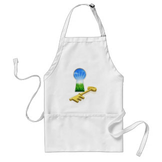 Key to freedom concept apron