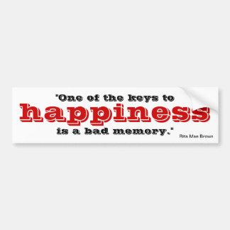 Key to happiness car bumper sticker