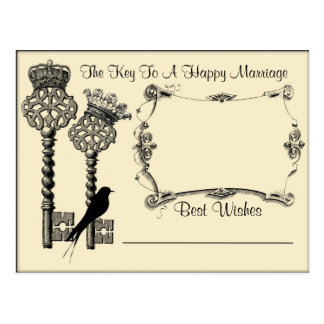 Key to Marriage Advice Save the Date Postcard