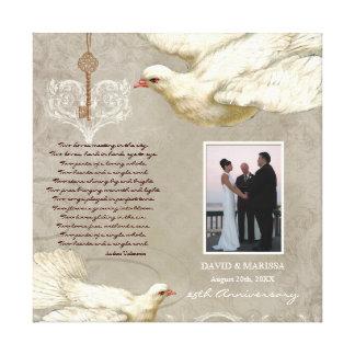 Key to my Heart Dove 25th Anniversary Photo Print