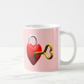 Key To My Heart T-shirts and Gifts Basic White Mug