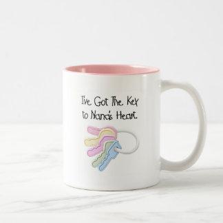 Key to Nana's Heart Tshirts and Gifts Two-Tone Coffee Mug