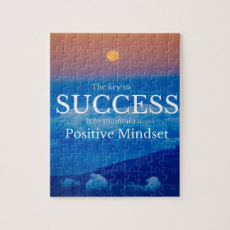 Key to Success Inspirational Quote Jigsaw Puzzle