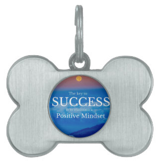 Key to Success Inspirational Quote Pet ID Tag