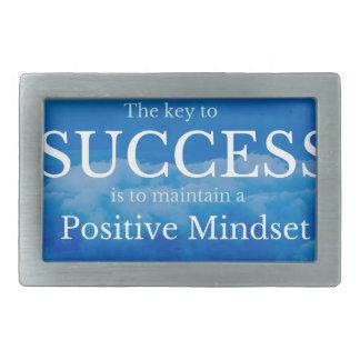 Key to Success Inspirational Quote Rectangular Belt Buckle