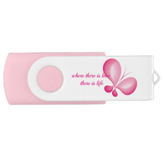 Key USB White, 8 GB, Pink Pastel USB Flash Drive