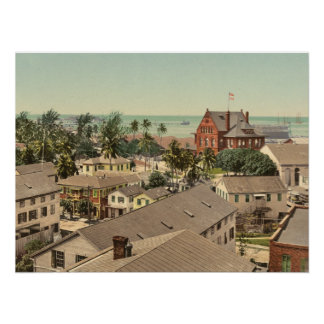 Key West 1900 Historic Color Photo Poster