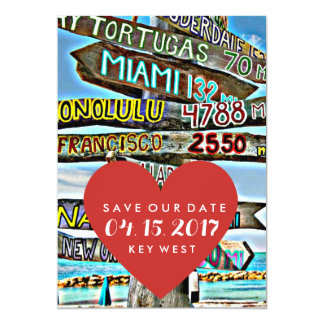 Key West Destination Wedding Save the Date Card