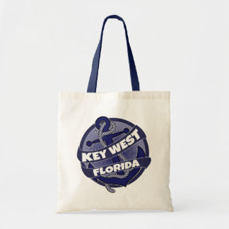 Key West Florida anchor swirl tote bag