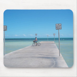 Key West Florida Aquamarine Ocean Pier Mousepad FL