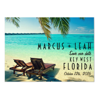 Key West, Florida Destination Wedding Save Date Card
