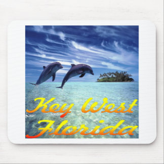 Key West Florida Dolphins Mouse Pad