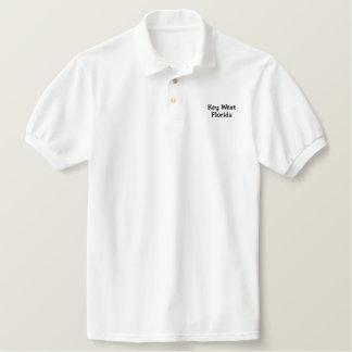 Key West Florida Embroidered Polo Shirt