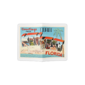 Key West Florida FL Old Vintage Travel Souvenir Passport Holder