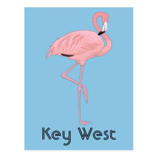 Key West Florida Pink Flamingo Postcard
