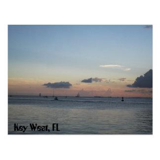 Key West Florida sailing boats on the sea Postcard