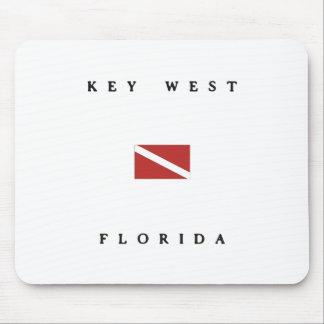 Key West Florida Scuba Dive Flag Mouse Pad