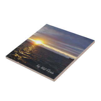 Key West Florida Sunset Tile