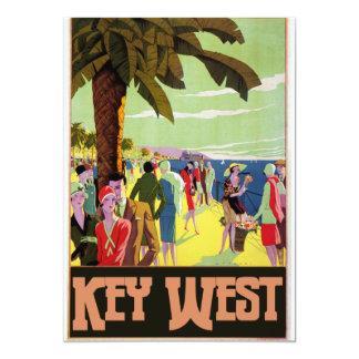 Key West Florida Travel Vintage Artwork Card