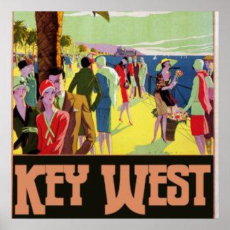 Key West Florida Travel Vintage Artwork Poster