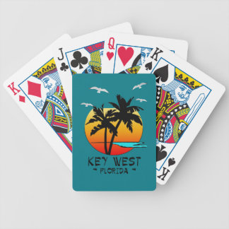 KEY WEST FLORIDA TROPICAL DESTINATION BICYCLE PLAYING CARDS