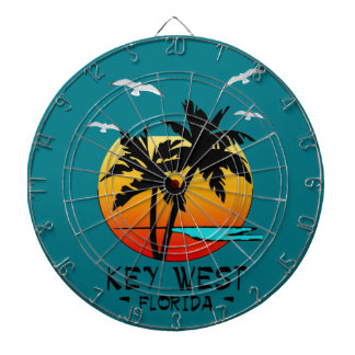 KEY WEST FLORIDA TROPICAL DESTINATION DARTBOARD