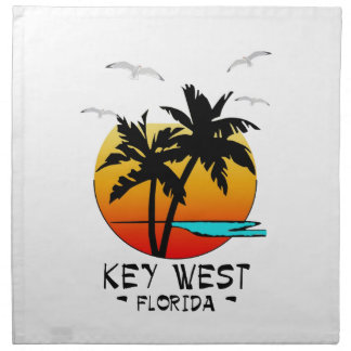 KEY WEST FLORIDA TROPICAL DESTINATION NAPKIN