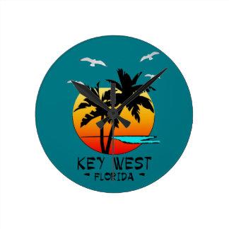 KEY WEST FLORIDA TROPICAL DESTINATION ROUND CLOCK