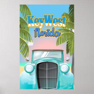 Key West, Florida USA vintage travel poster