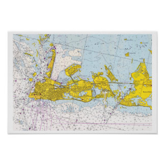 Key West, Florida vintage nautical chart