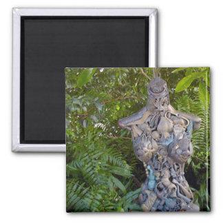 Key West Garden Sculpture Square Magnet