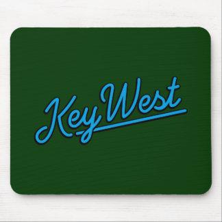 Key West in cyan Mousepads