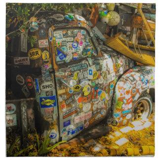 Key West is Art, Old Pickup Truck Napkin