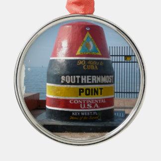 Key West Metal Ornament