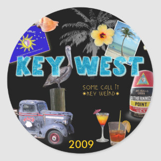 Key West Round Sticker