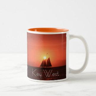 Key West, Sailboat at Sunset Mug