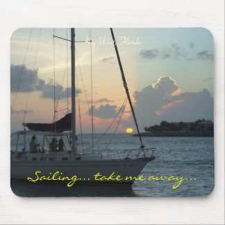 Key West sailing mousepad