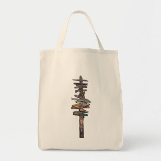 Key West Sign Post Tote Bag